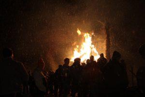 Brennende Hex beim Scheibenschlagen in Schluderns